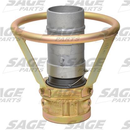 Air Start Coupling with Barbed Fitting