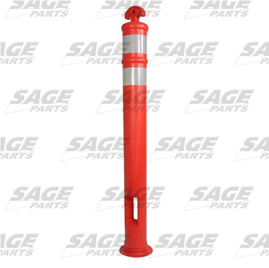 RAMPTECH Traffic Delineator Post with Reflective Bands