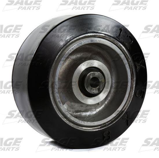 18x7x12 1/8 Solid Tire Bogie Wheel Commander 30