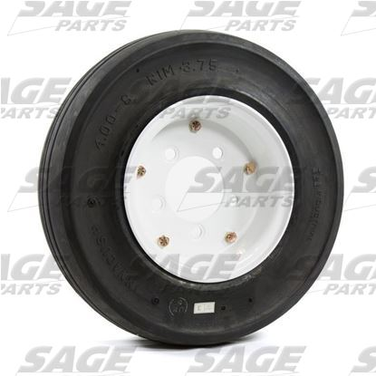 4 x 8 x 3.75 Pilot White Wheel & Tire