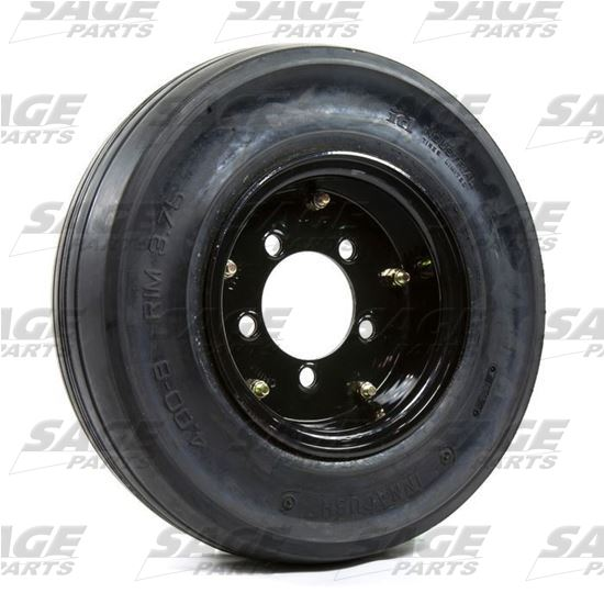 4 x 8 x 3.75 Black Baggage Wheel and Tire