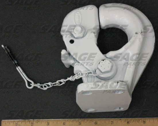 Picture of HOOK, PINTLE WHITE W/ COTTER PIN