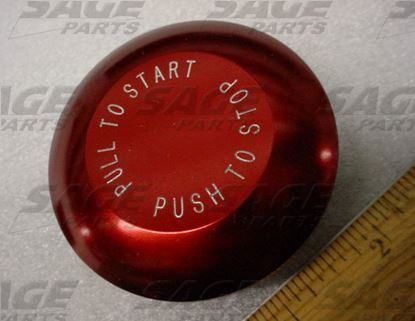 Picture of KNOB, MUSHROOM RED